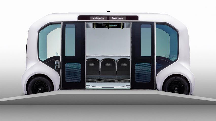 Toyota redesigns its e-Palette vehicle for Tokyo 2020 Olympic athletes