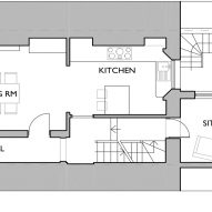 Ground floor plan of Twist House extension by Urban Mesh