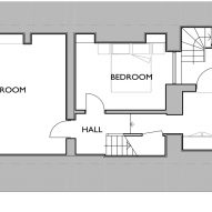 Lower ground basement floor plan of Twist House extension by Urban Mesh