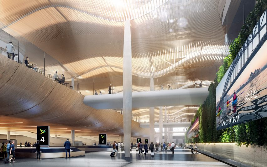 Visuals of Western Sydney International Airport by Zaha Hadid Architects and Cox Architecture in Australia