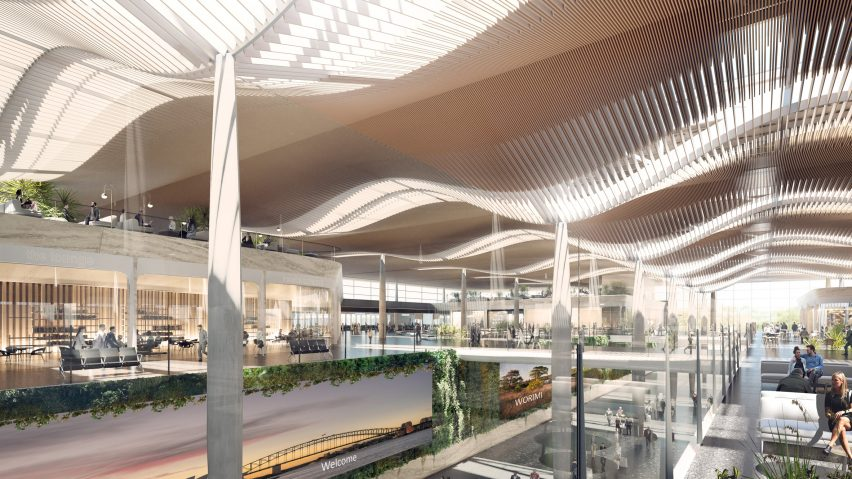 Visuals of Western Sydney International (Nancy-Bird Walton) Airport by Zaha Hadid Architects and Cox Architecture in Australia
