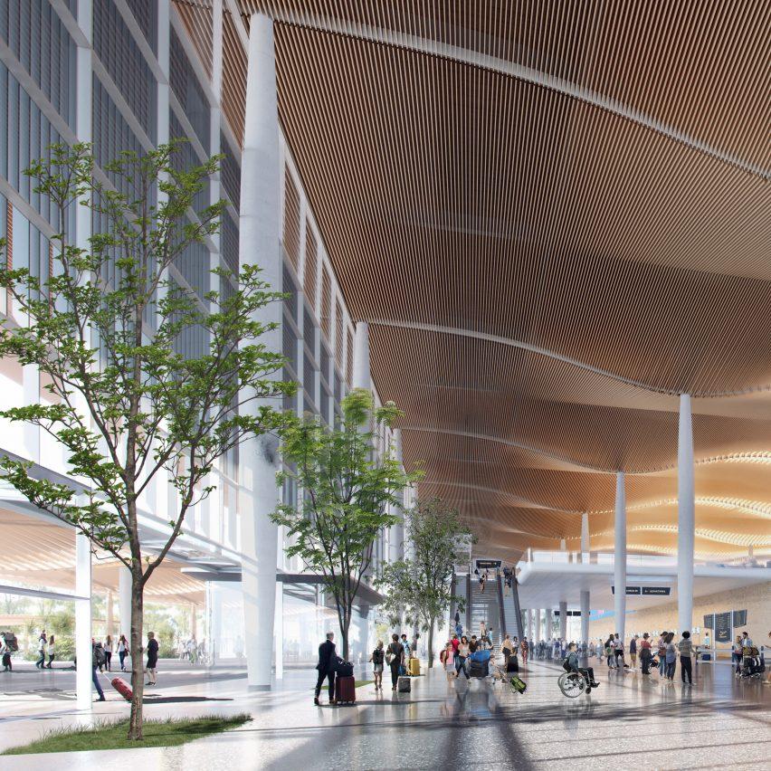 Visuals of Western Sydney International (Nancy-Bird Walton) Airport by Zaha Hadid Architects and Cox Architecture in Australia