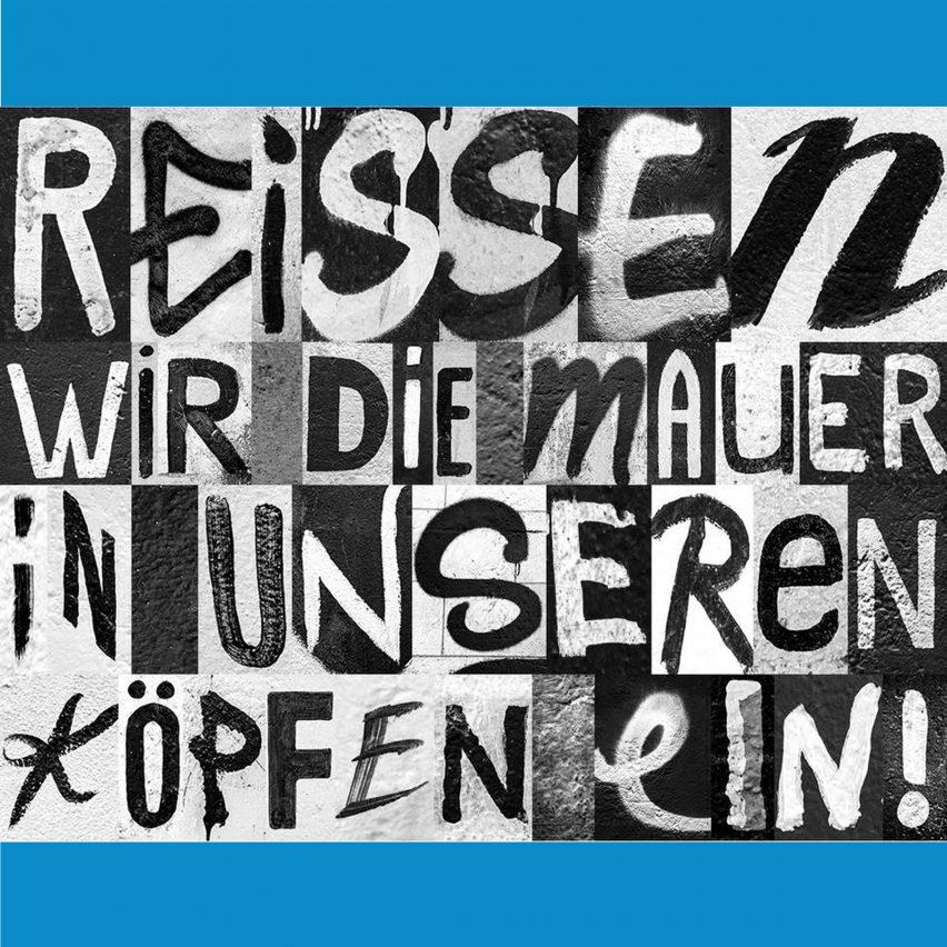 Berlin Wall typeface Heimat