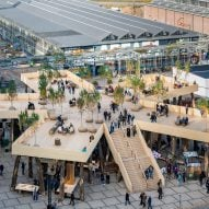 Biobasecamp pavilion aims to demonstrate the potential of timber in architecture