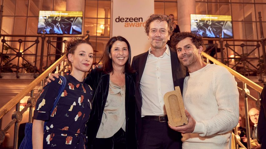 Yael Mer and Shay Alkalay of Raw Edges and Pilar Millet Sancho of GAN won homeware design if the year with their product Backstitch