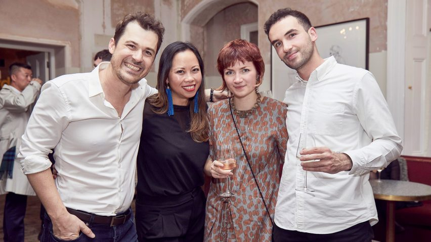Arthur Mamou-Mani, Sandy Kwan, Holly Hawkins and Ayham Kabbani of Mamou-Mani Architects