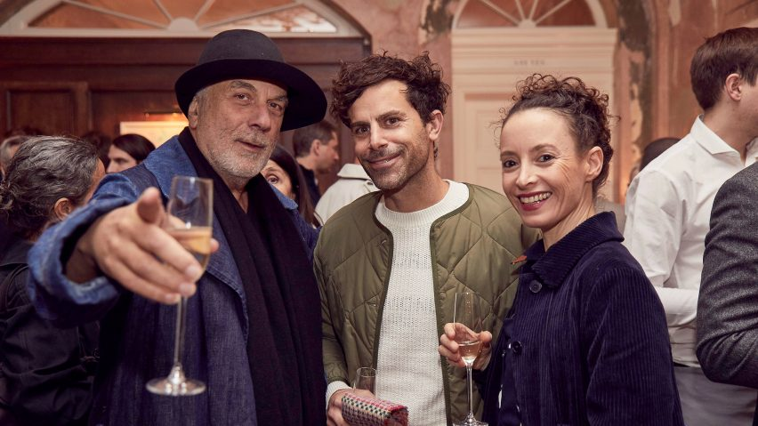 Dezeen Awards 2019 judge Ron Arad with Shay Alkalay and Yael Mer