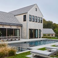 KOS+A builds cedar-clad Amagansett house with wood interiors