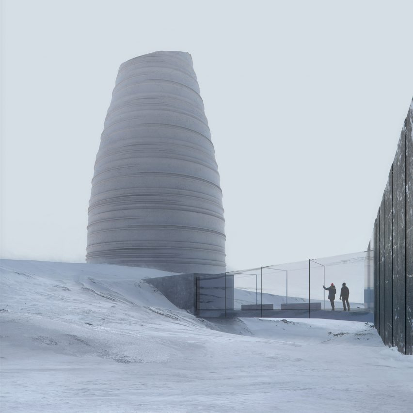 The Arc Visitor Center for Svalbard Global Seed Vault in Svalbard by Snøhetta