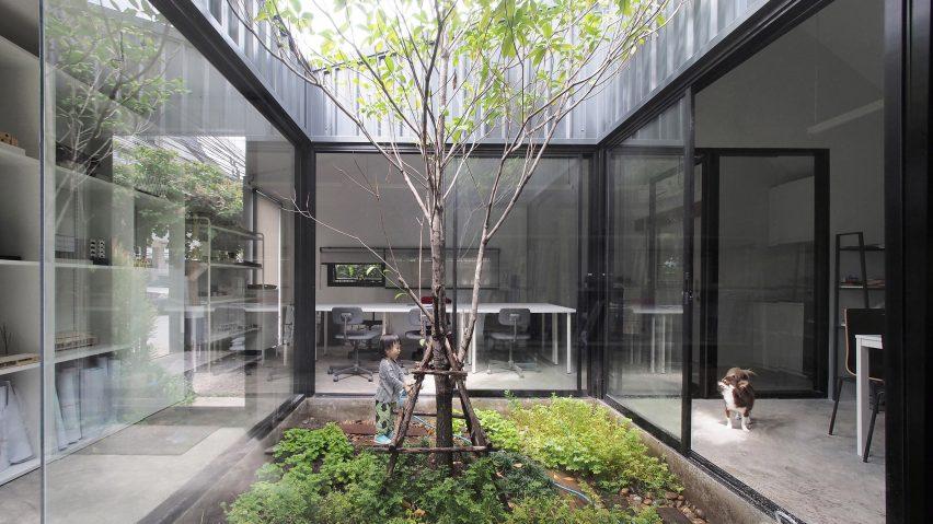 ASWA wraps own architecture studio around internal courtyard