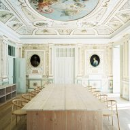 Restored plasterwork and paintings adorn Aires Mateus' self-designed studio