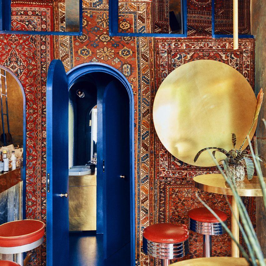 Moroccan carpets line walls of Warsaw's Aura cocktail bar