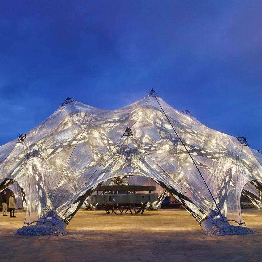 BUGA Fibre Pavilion, Germany, by University of Stuttgart