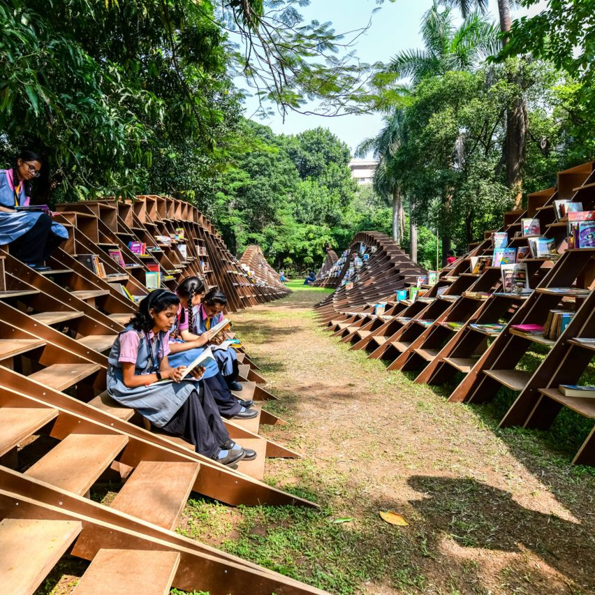 Bookworm pavilion by Nudes in Mumbai, India