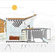 Casa de las Tejas Voladoras by Daniel Moreno Flores Section