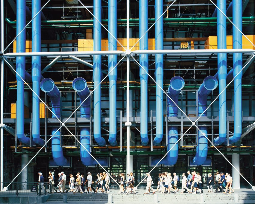 The exterior of the Centre Pompidou by Richard Rogers and Renzo Piano