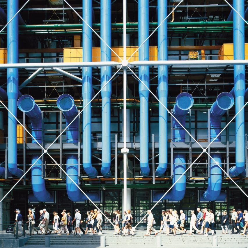 Richard Rogers top 10 architecture projects: Centre Pompidou by Richard Rogers and Renzo Piano