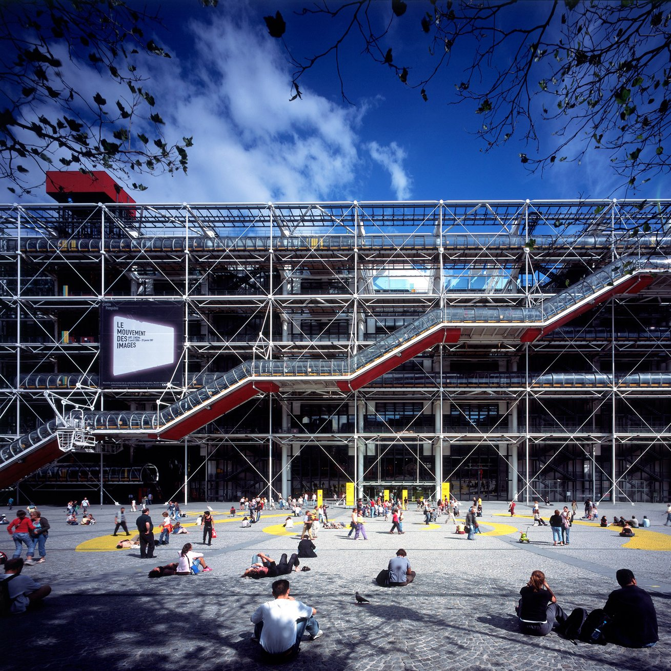 High-tech buildings: Centre Pompidou by Richard Rogers and Renzo Piano