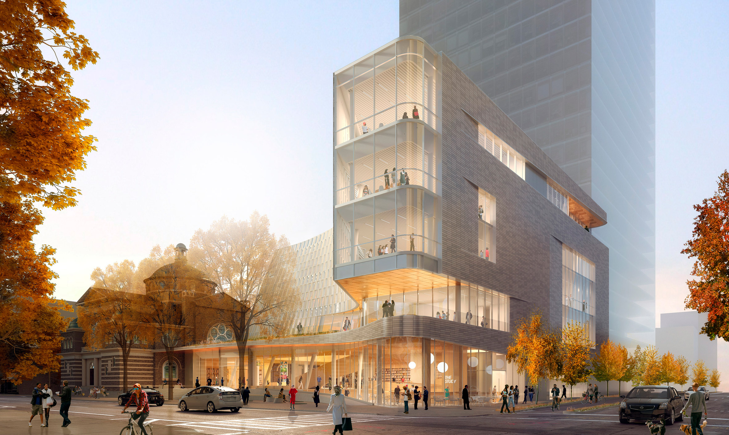 Snøhetta unveils North Carolina library with scooped front
