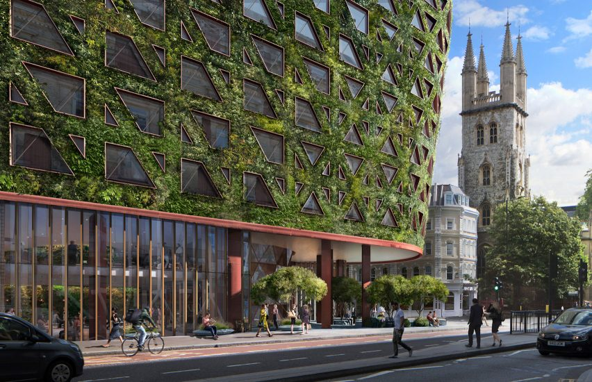 Citicape House with Europe's largest green wall in London by Sheppard Robson