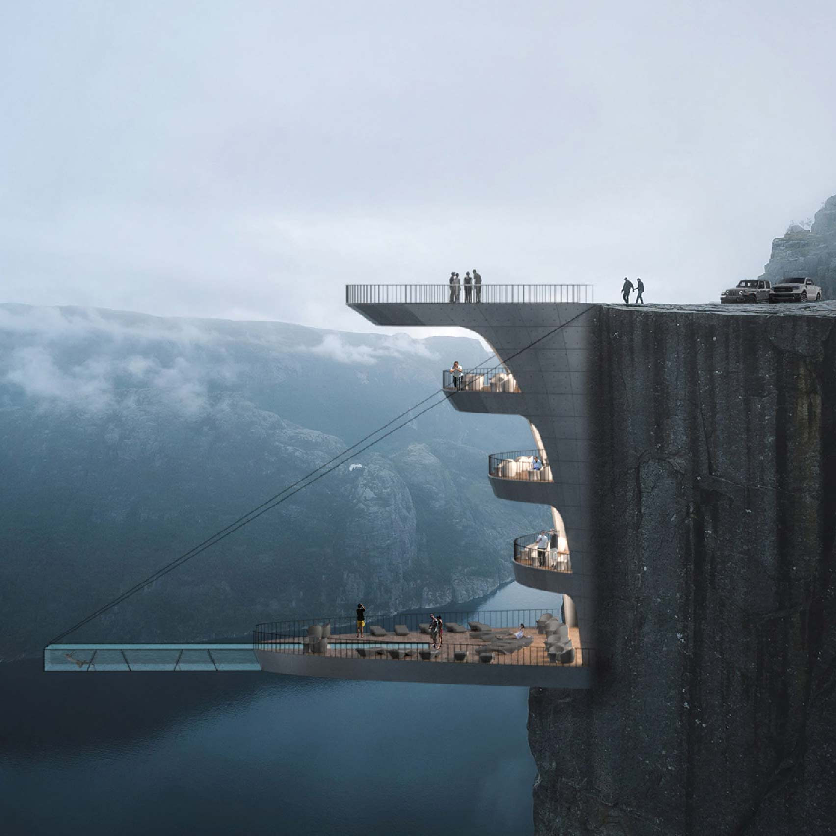 Preikestolen boutique hotel by Hayri Atak Architectural Design Studio