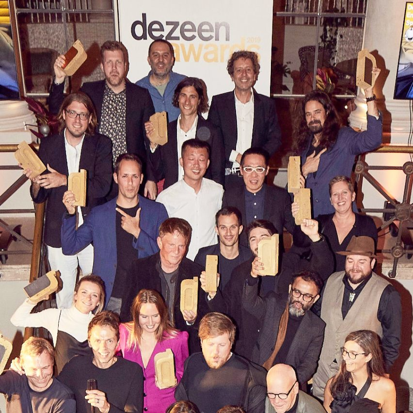 Architects and designers from around the world celebrate at Dezeen Awards 2019 party