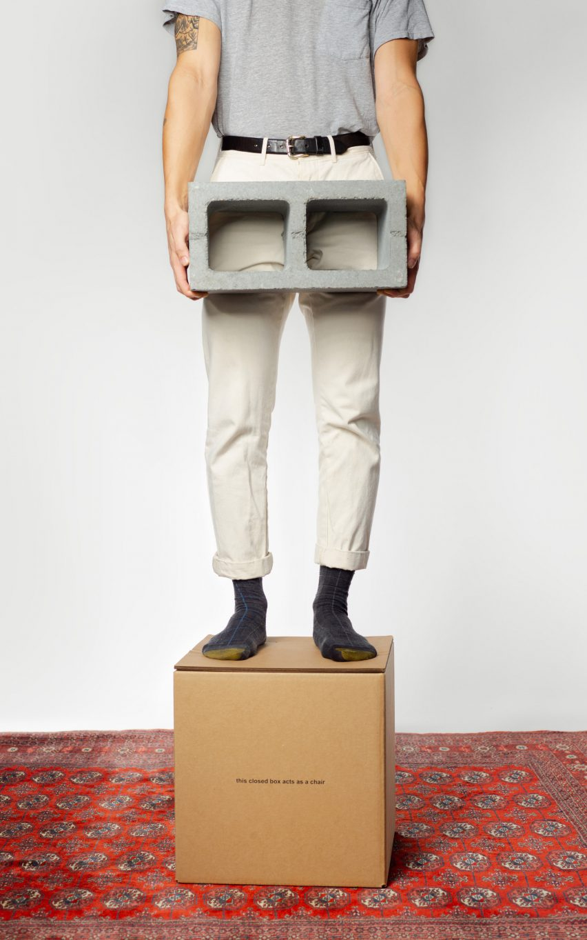 "Studio dtttww reimagines cardboard box as ""accidental chair"""