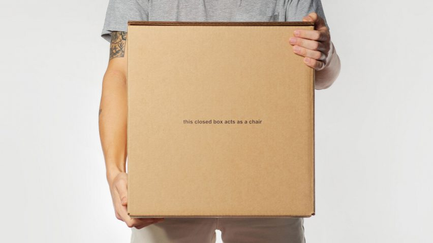 "Studio dtttww reimagines cardboard box as ""accidental chair"""