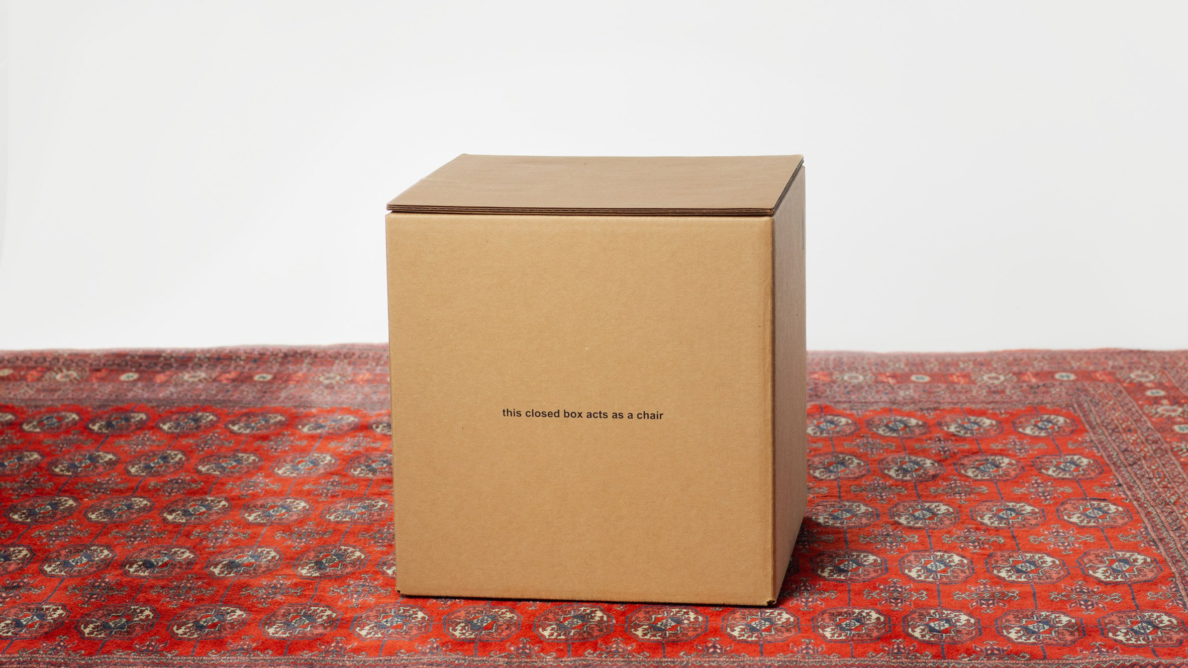 Don't Take This The Wrong Way cardboard box chair