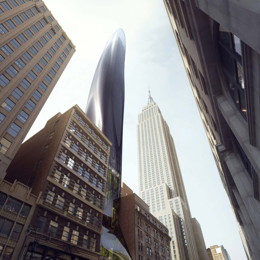 East 34th Street conceptual skyscraper by MAD Architects