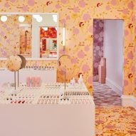 Glossier's floral pop-up store in London blooms with colour