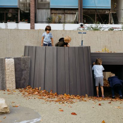 Golden Lane Estate playground in London by Muf