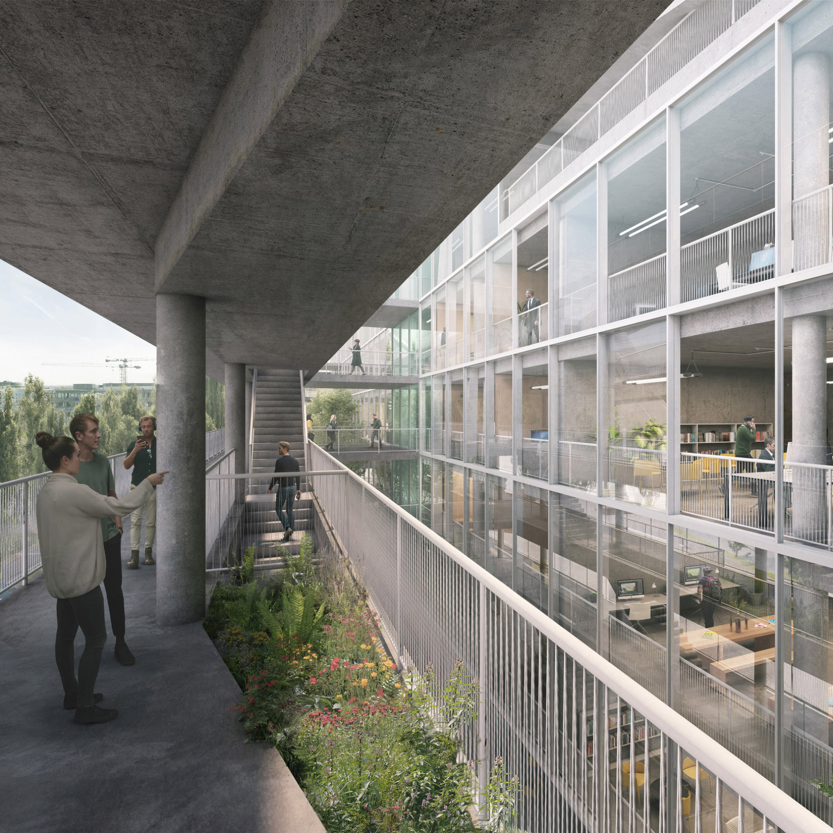 "Euroboden reveals design of ""brutalist"" Hammerschmidt office in Munich"