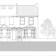 Existing elevation of House for Four London house extension by Harry Thomson of Studioshaw