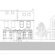 Proposed elevation of House for Four London house extension by Harry Thomson of Studioshaw