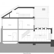 Proposed section A of House for Four London house extension by Harry Thomson of Studioshaw