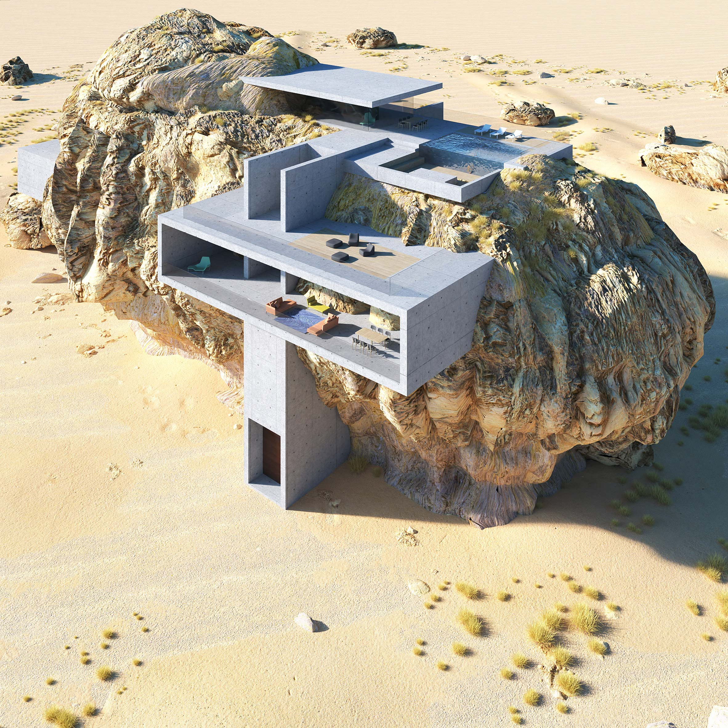 House Inside a Rock by Amey Kandalgaonkar