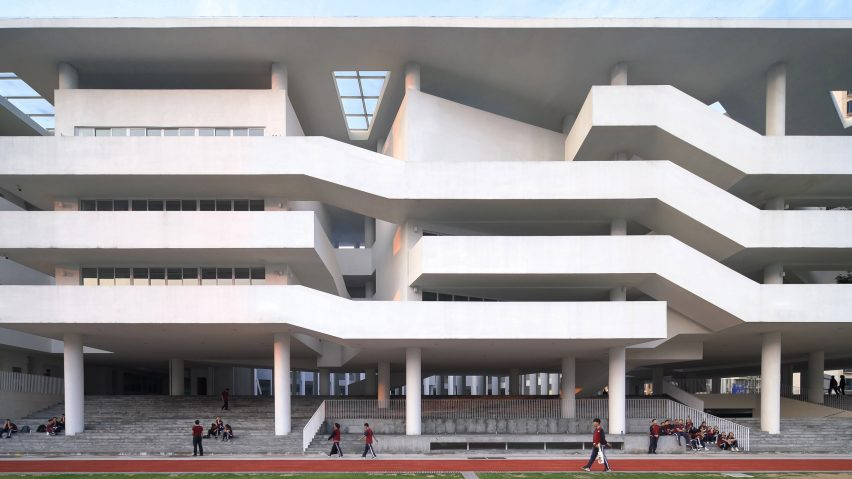 Huandou School by Trace Architecture Office TAO in Haikou China