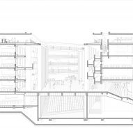 Perspective section of teaching rooms of Huandou School by Trace Architecture Office TAO