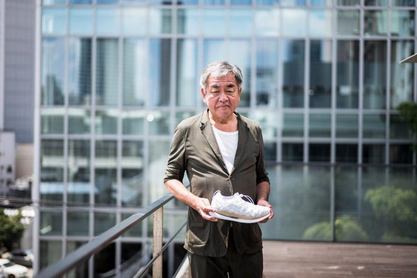 Kengo Kuma unveils first ever trainer design for Asics