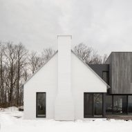 TBA adds cedar-clad extension to white farmhouse in Quebec