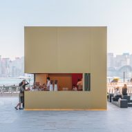 OMA installs minimal Kube pavilion outside K11 Musea in Hong Kong