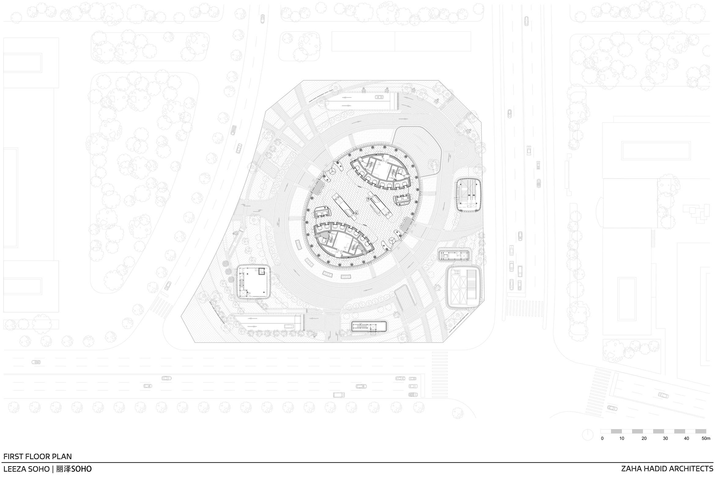 Zaha Hadid Architects Completes Leeza Soho Tower With World S Tallest Atrium