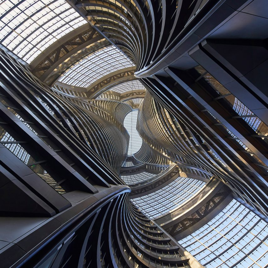 Zaha Hadid Architects completes Leeza Soho skyscraper with world's tallest atrium