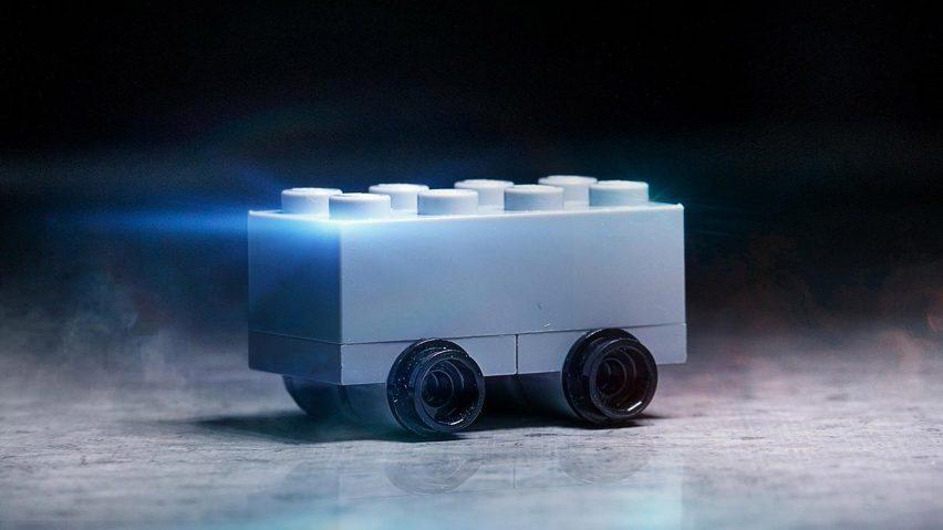 Lego model of Tesla Cybertruck
