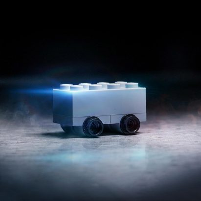 Lego model of Tesla Cybertruck