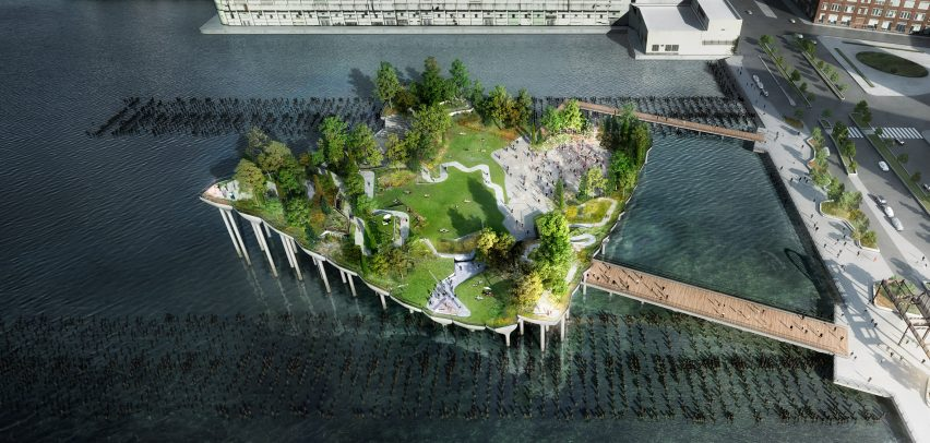 Heatherwick Studio's Pier 55 renamed Little Island
