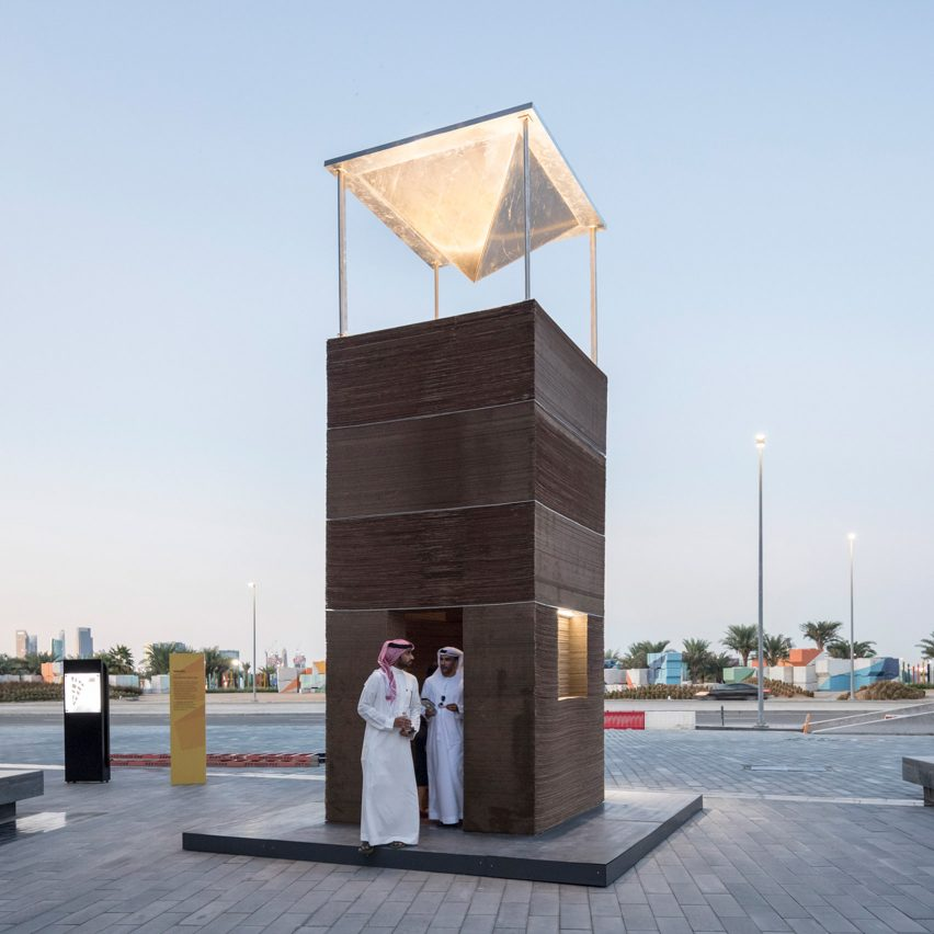 MAS Architecture Studio's wind tower keeps visitors cool without air-conditioning