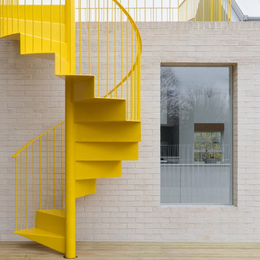 Dezeen's top 10 staircases of 2019: Mile End Road, England, Vine Architecture Studio
