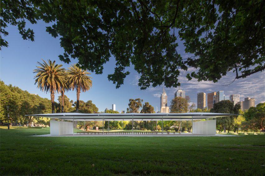 MPavilion 2019 by Glenn Murcutt in Melbourne, Australia